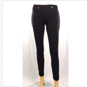 MICHAEL KORS Black faux leather pants size 4